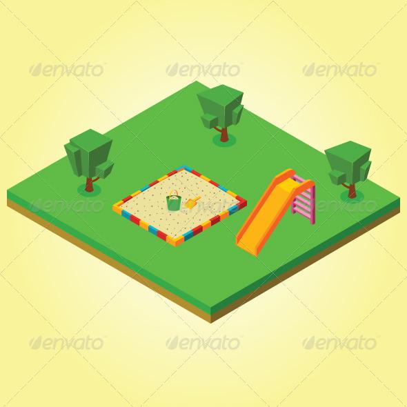 GraphicRiver Isometric Sandbox and Slides 7823410