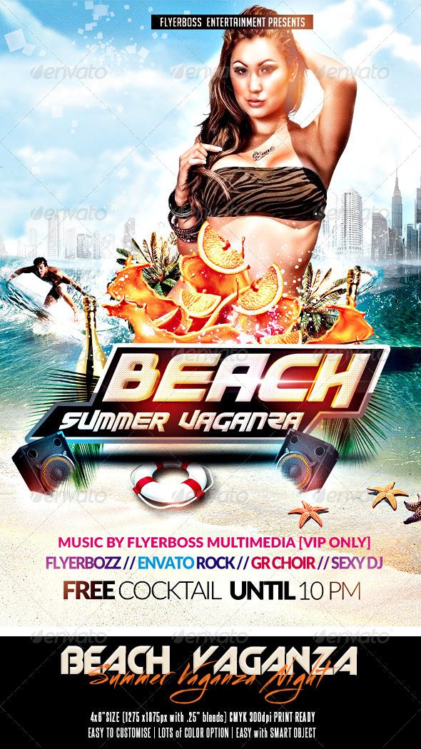 GraphicRiver Beach Summer Vaganza Flyer 7823443