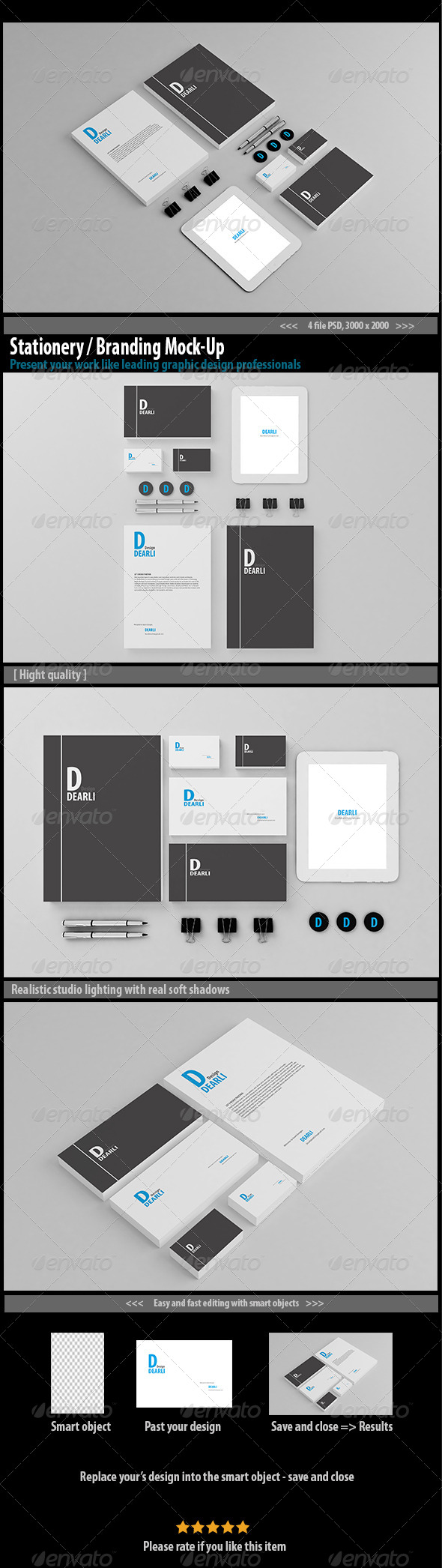 GraphicRiver Stationery Branding Mock-Up 7823689