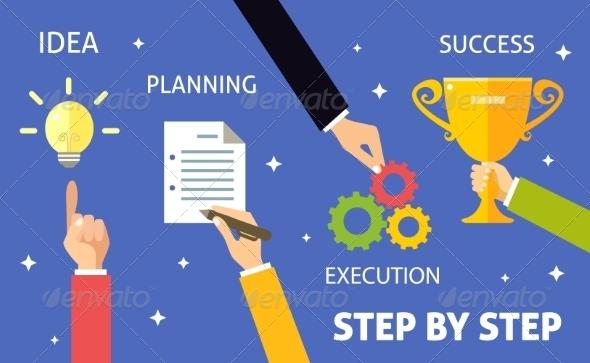 GraphicRiver Business Steps Concept 7824438