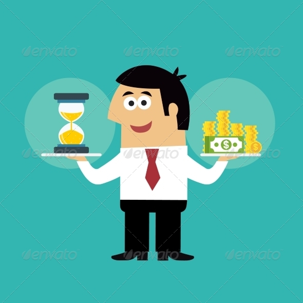 GraphicRiver Business Life Time is Money 7824442