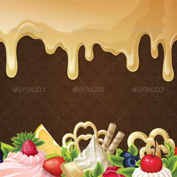 GraphicRiver Caramel Sweets Background 7824602
