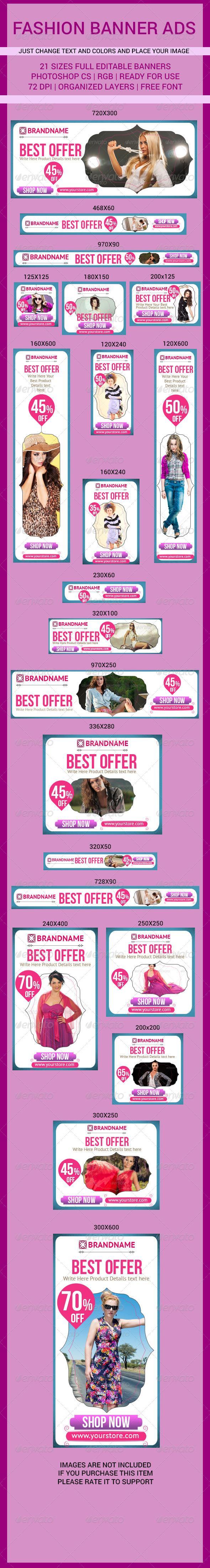 GraphicRiver Fashion Banner Ads 7790136
