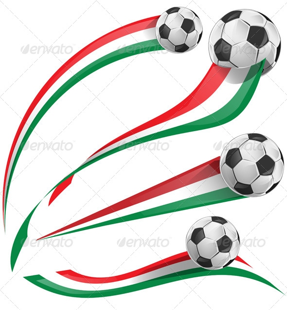 GraphicRiver Italian Flag Set with Soccer Ball 7826192