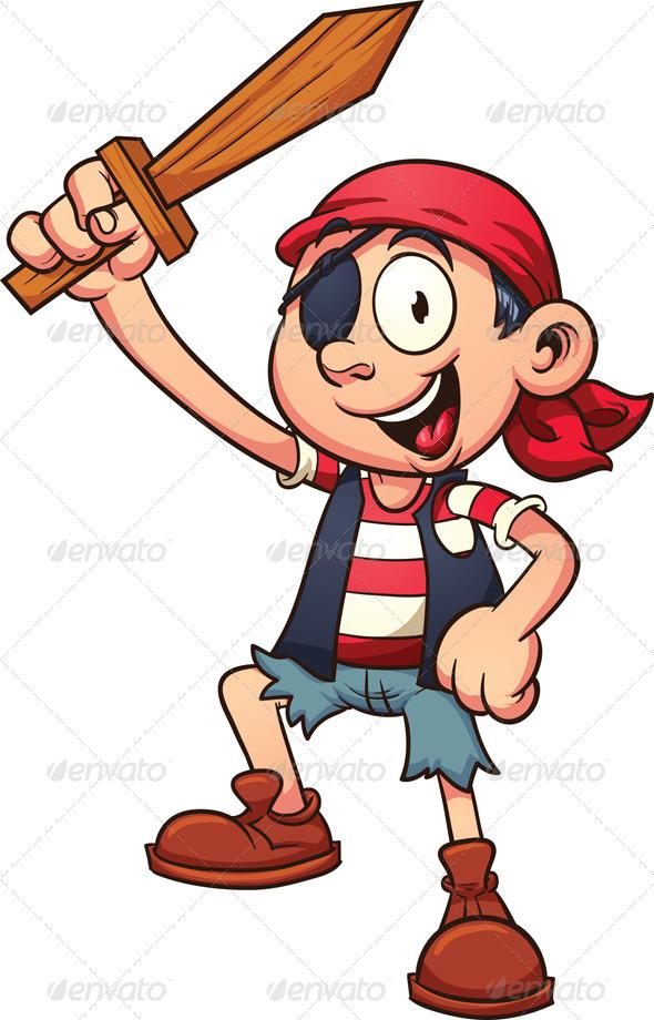 GraphicRiver Pirate Kid 7827736