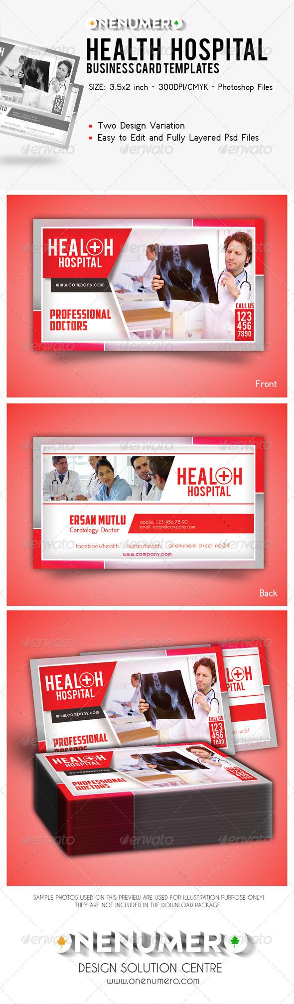 GraphicRiver Health Hospital Business Card Templates 7828261