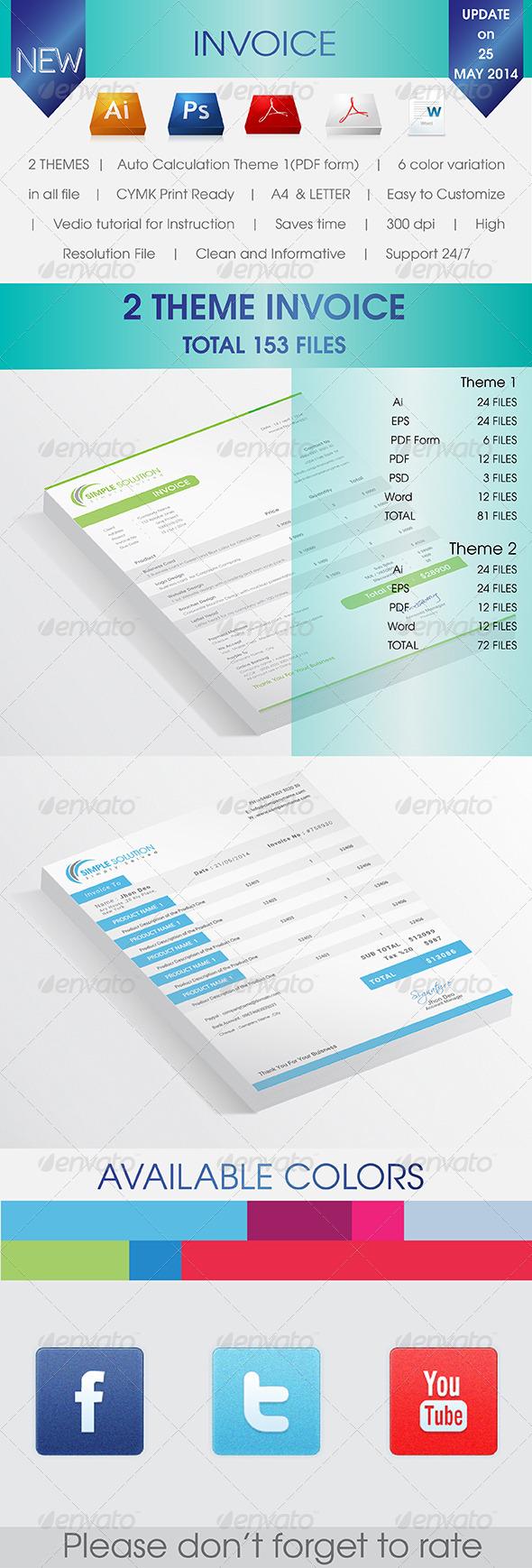 GraphicRiver 2 Invoices 7650135