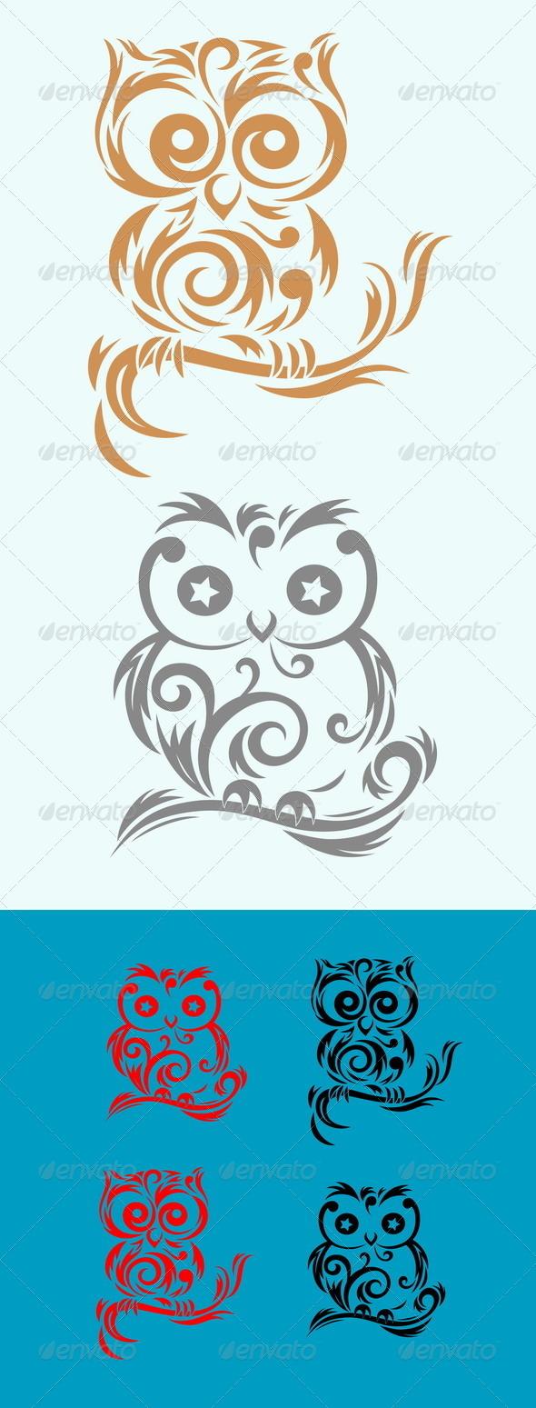 GraphicRiver Owl Birds 7828908