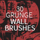 30 Grunge Wall Photoshop Brushes