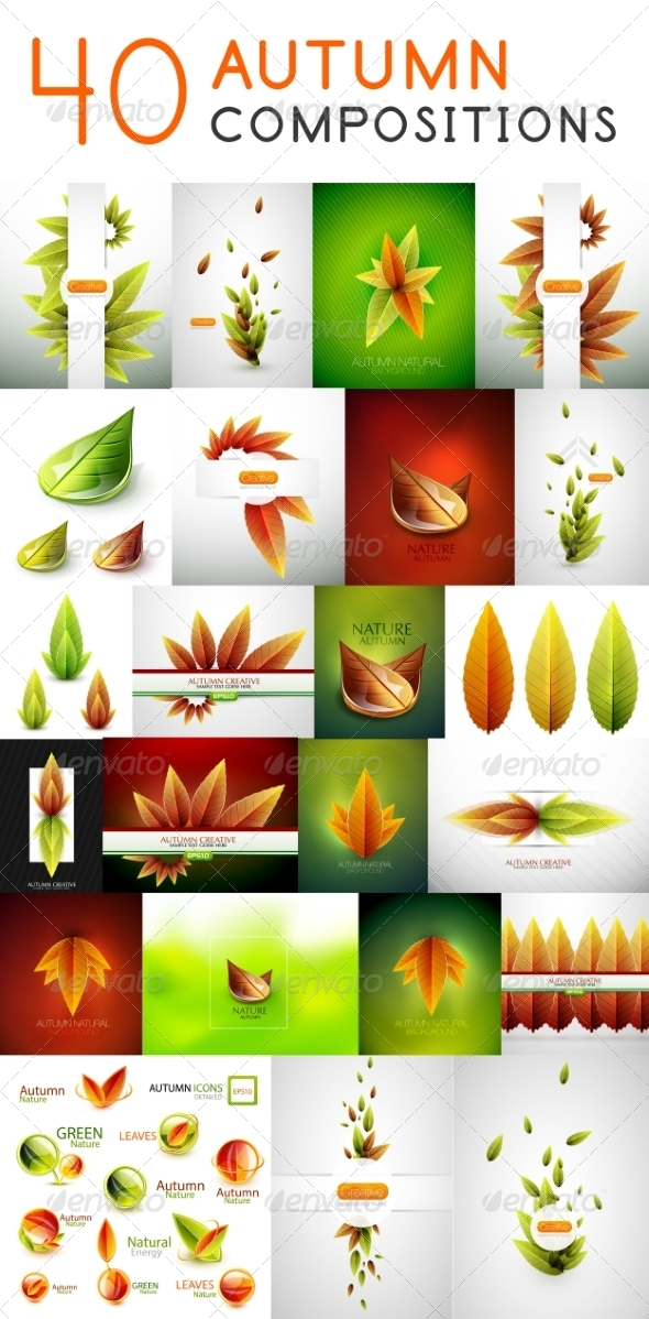GraphicRiver Mega Set of Autumn Concepts 7830451