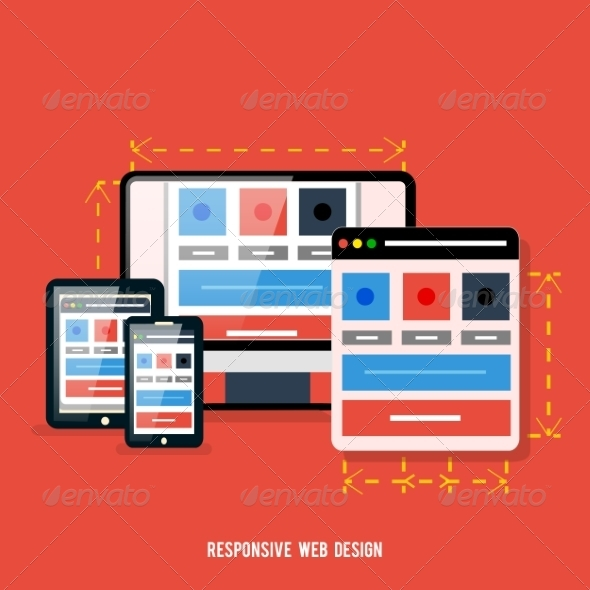 GraphicRiver Responsive Web Design Concept with Devices 7835520