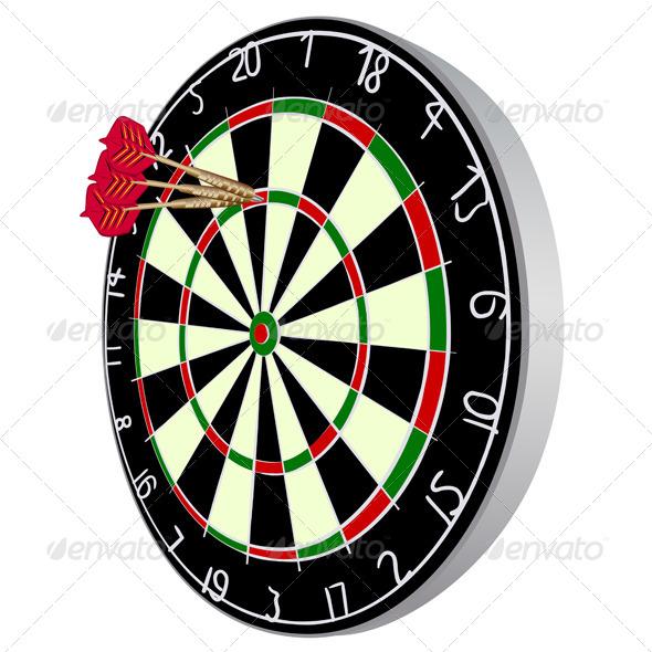 GraphicRiver Dart Board 7836317