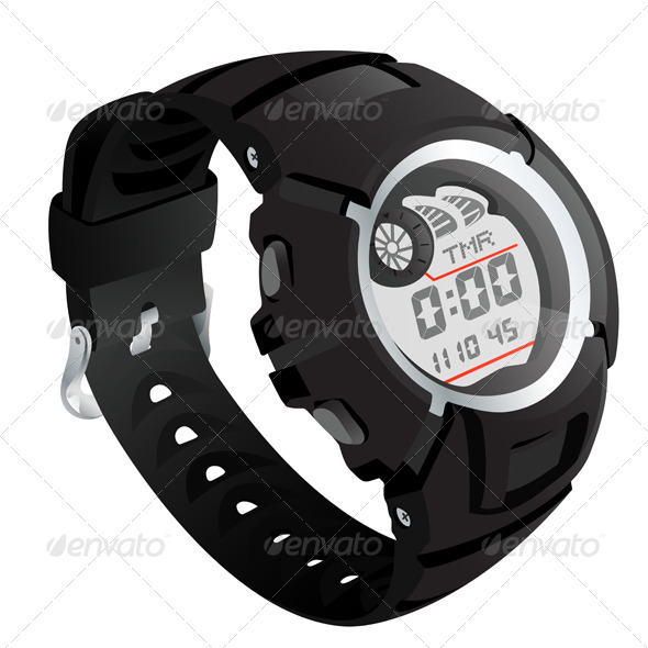 GraphicRiver Electronic watch 7836348