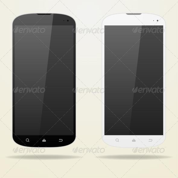 GraphicRiver Two Empty Smartphone 7836792