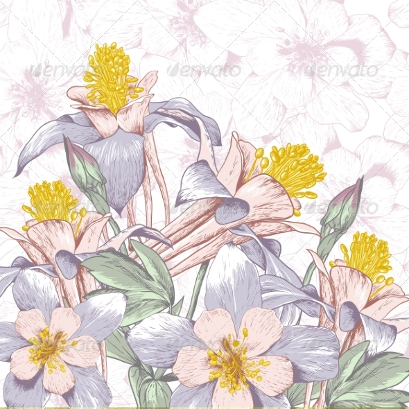 GraphicRiver Beautiful Background with White Flowers 7837183