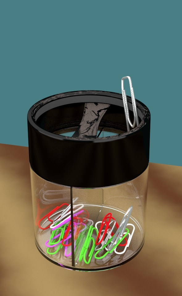 3DOcean Paperclip in dusty Cup 7837260