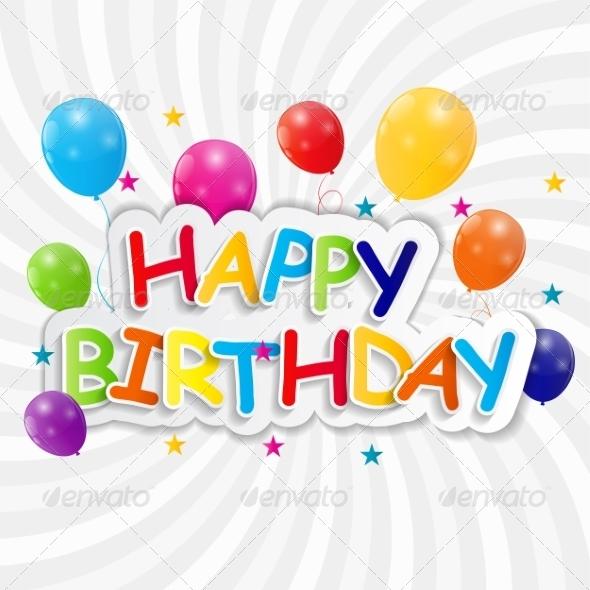 GraphicRiver Happy Birthday Card Vector Illustration 7838411
