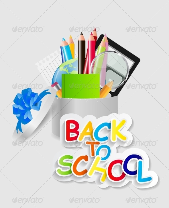 GraphicRiver Back to School Concept Vector Illustration 7838639