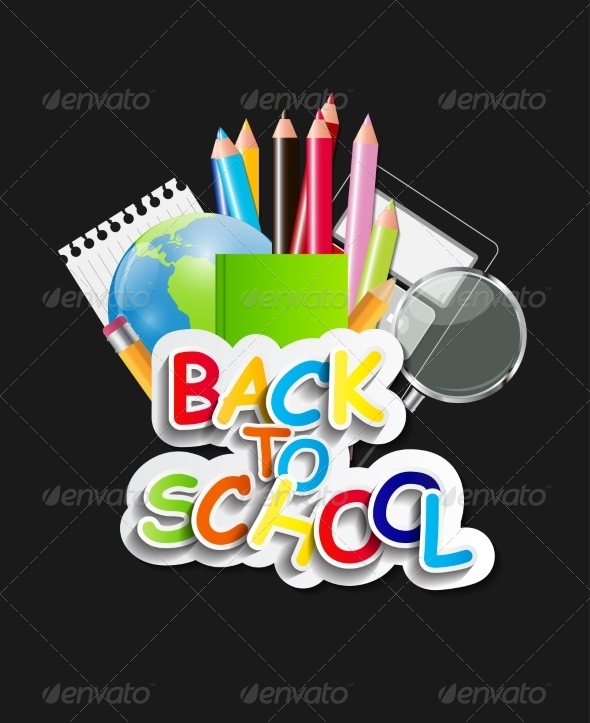 GraphicRiver Back to School Concept Vector Illustration 7838655