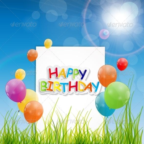 GraphicRiver Happy Birthday Card Illustration 7838827