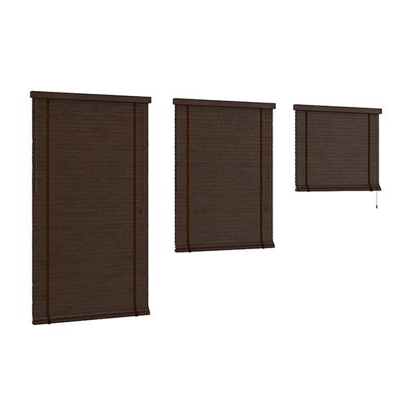 3DOcean Dark Wood Shutters 7839347