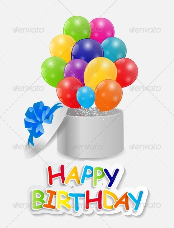 GraphicRiver Happy Birthday Card Illustration 7839352