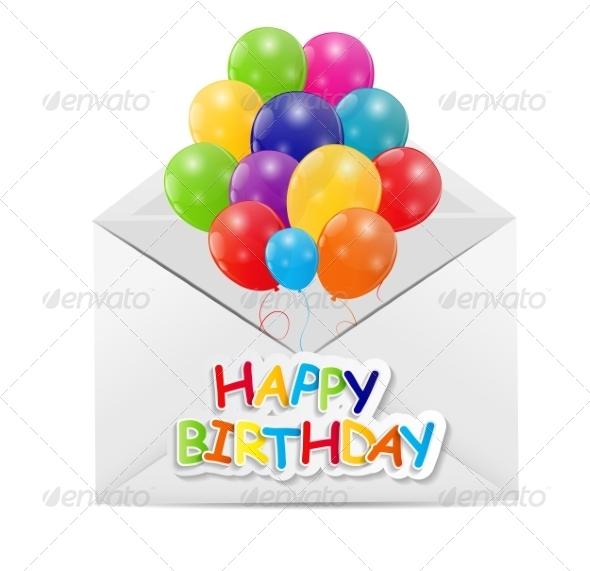 GraphicRiver Happy Birthday Card Illustration 7839354