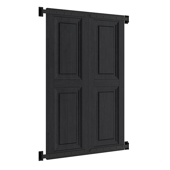 3DOcean Black External Shutters 7839486