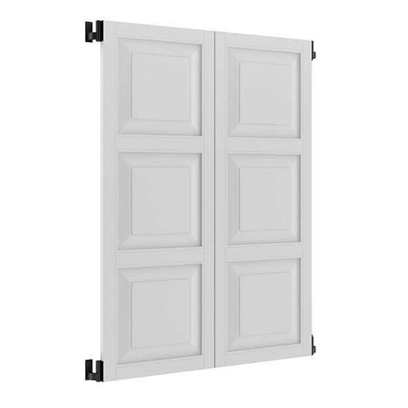 3DOcean White External Shutters 7839525