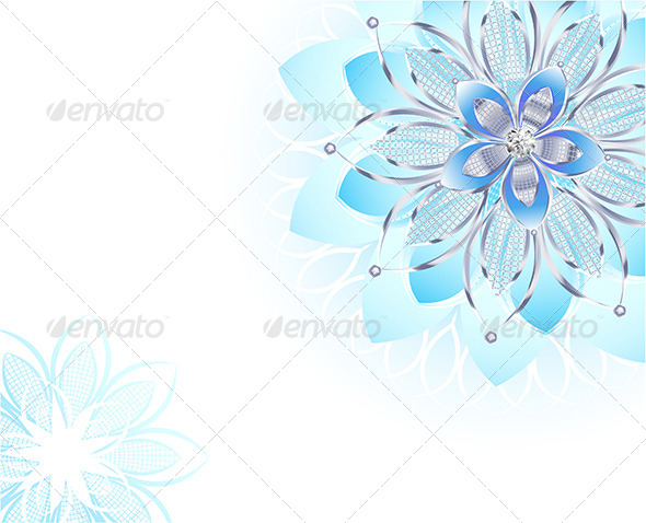 GraphicRiver Abstract Light Blue Flower 7808872