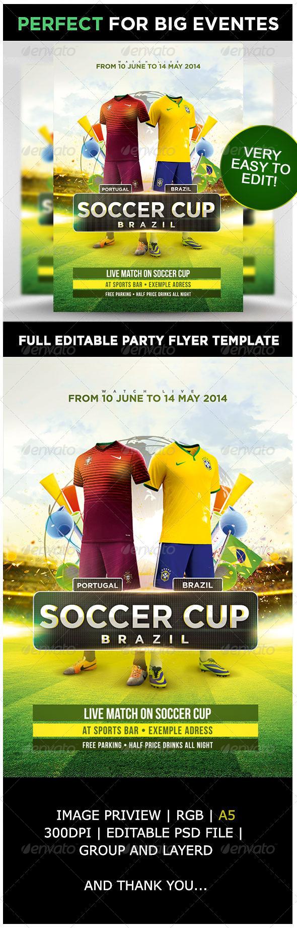 GraphicRiver Soccer Cup Brazil 7817987