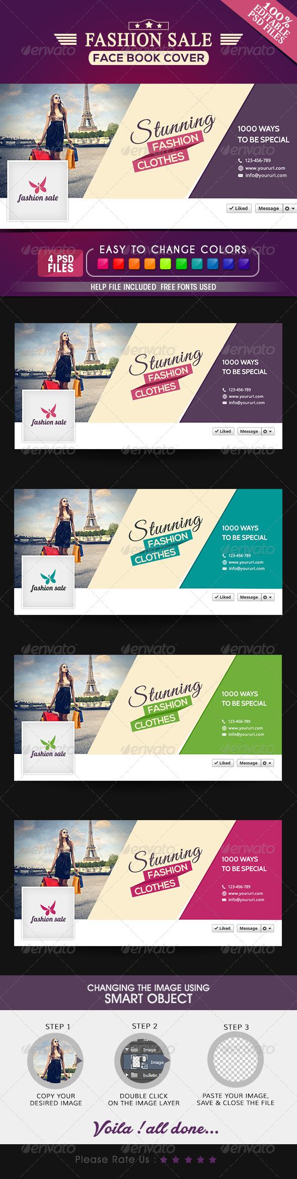 GraphicRiver Fashion Sale Facebook Cover 7812859