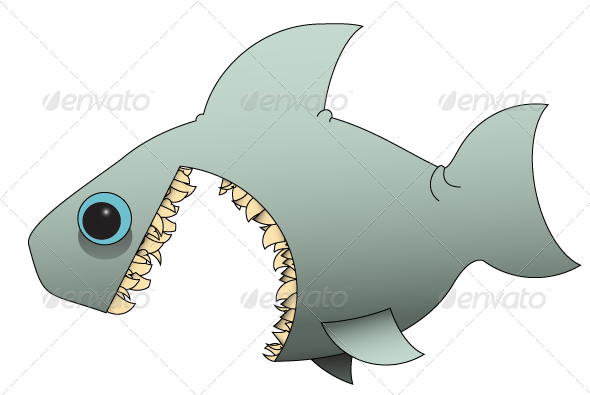 GraphicRiver Cartoon Shark 7805599