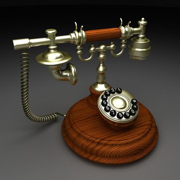3DOcean Old telephone 7842925