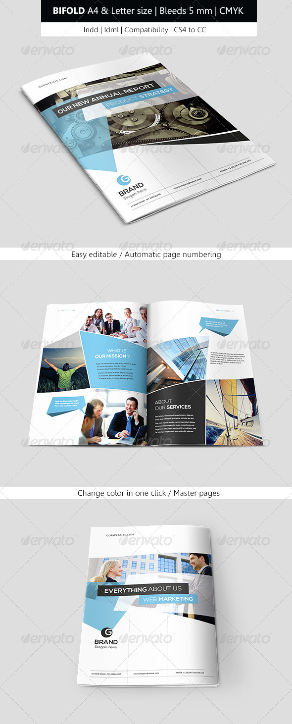 GraphicRiver Corporate Indesign Bifold Brochure Template 7827033