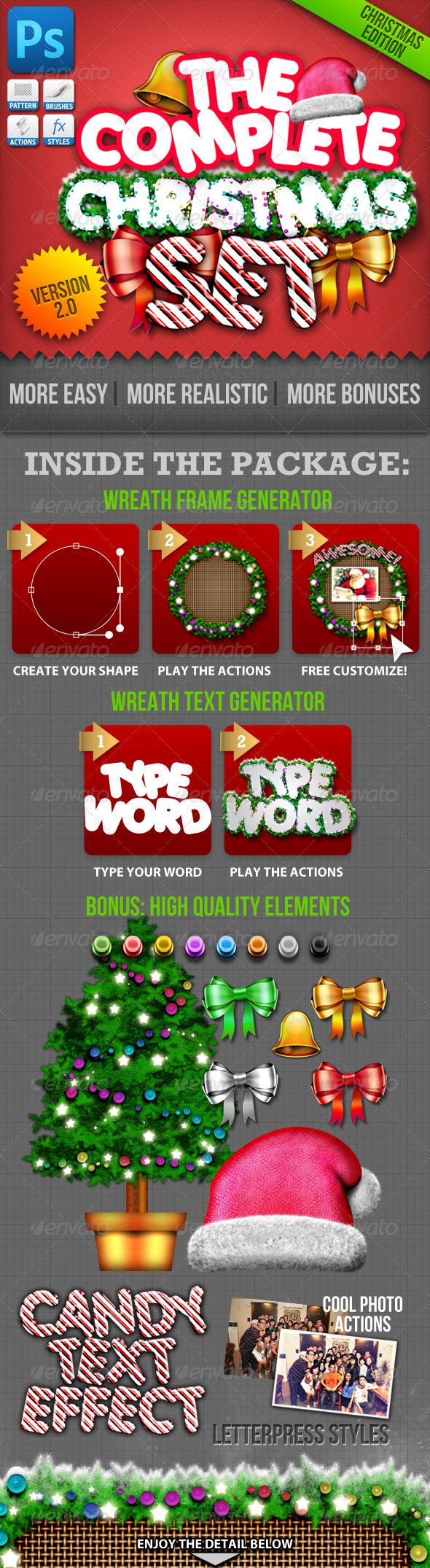 GraphicRiver Christmas Generator Set Actions and Text Styles 802625