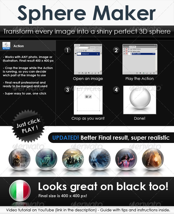 GraphicRiver Sphere Maker Build 3D glossy icons in 10 secs 80862