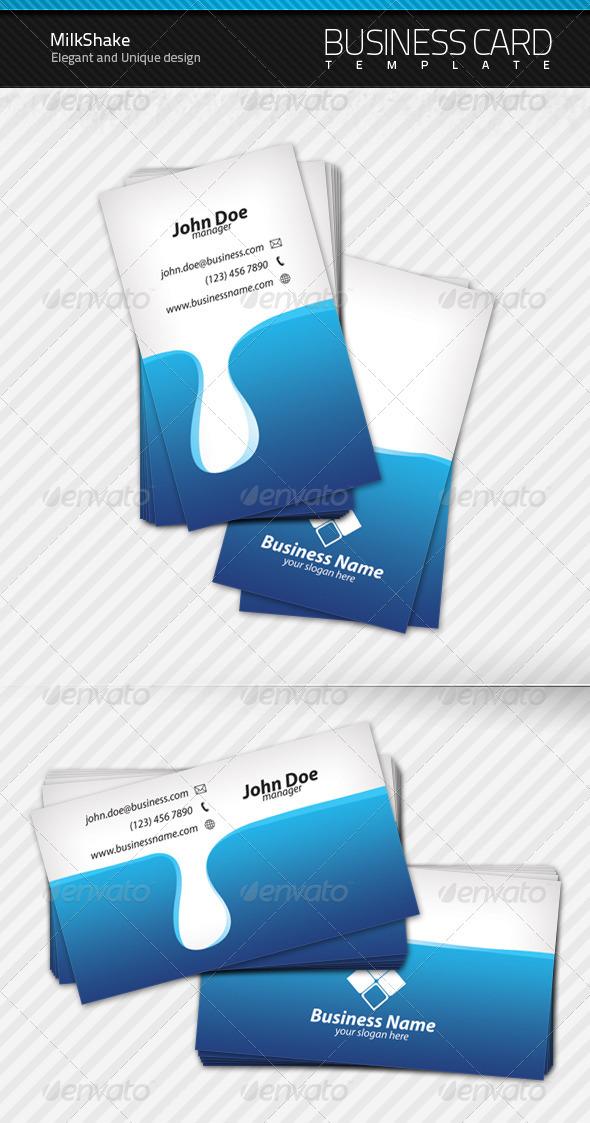 GraphicRiver Milk Shake Business Card 109685