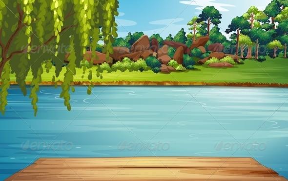Pond Scene Cartoon » Dondrup.com