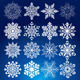 Elegance Vector Snowflakes - GraphicRiver Item for Sale
