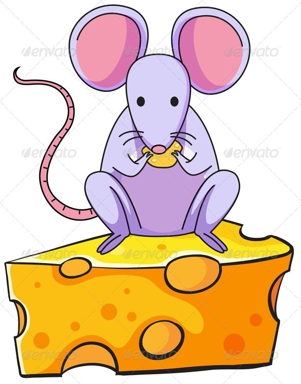 clipart mouse eating cheese - photo #30