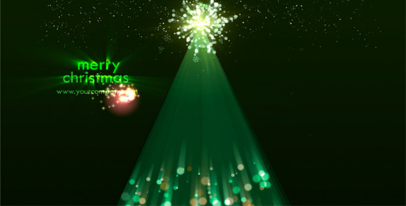 After Effects Project - VideoHive Christmas Tree Sparks 807123