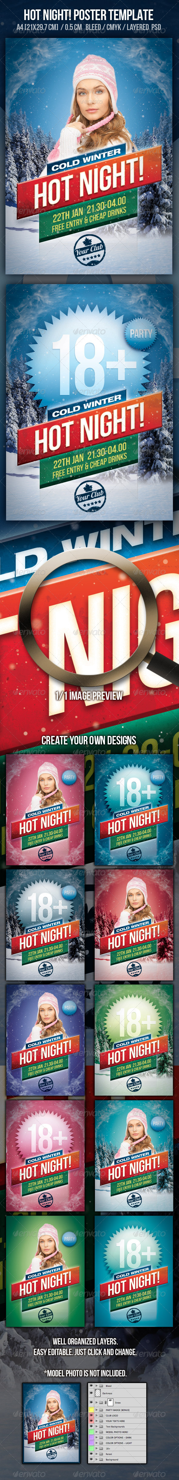 GraphicRiver Hot Night Party Design Template 807306