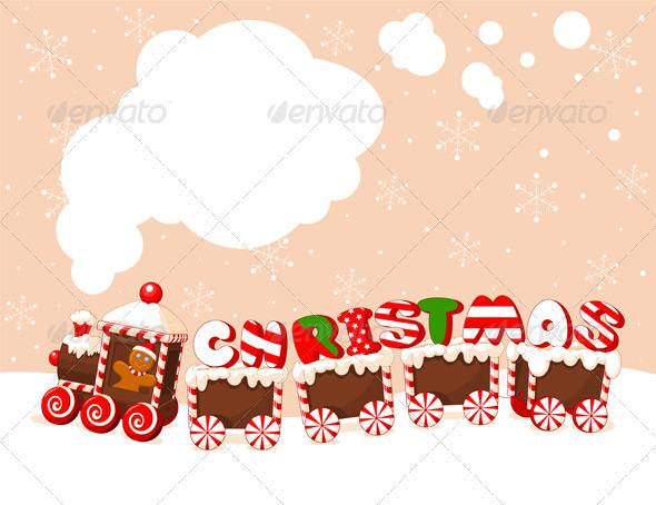Graphic River Christmas Train Background Vectors -  Conceptual  Seasons/Holidays  Christmas 807770