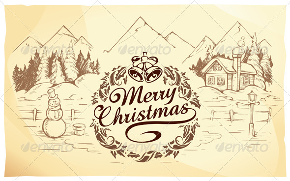 Graphic River Calligraphic Christmas Lettering Vectors -  Conceptual  Seasons/Holidays  Christmas 808465