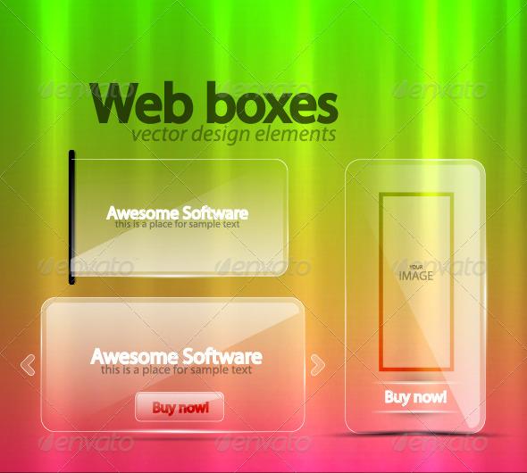 Graphic River Transparent Web Boxes Vectors -  - 812996