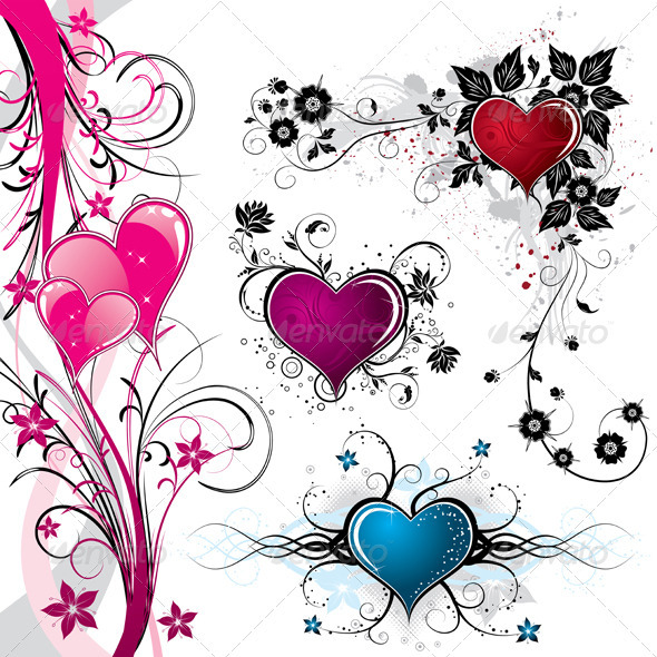 Graphic River Valentines Day background Vectors -  Conceptual  Seasons/Holidays  Valentines 813235