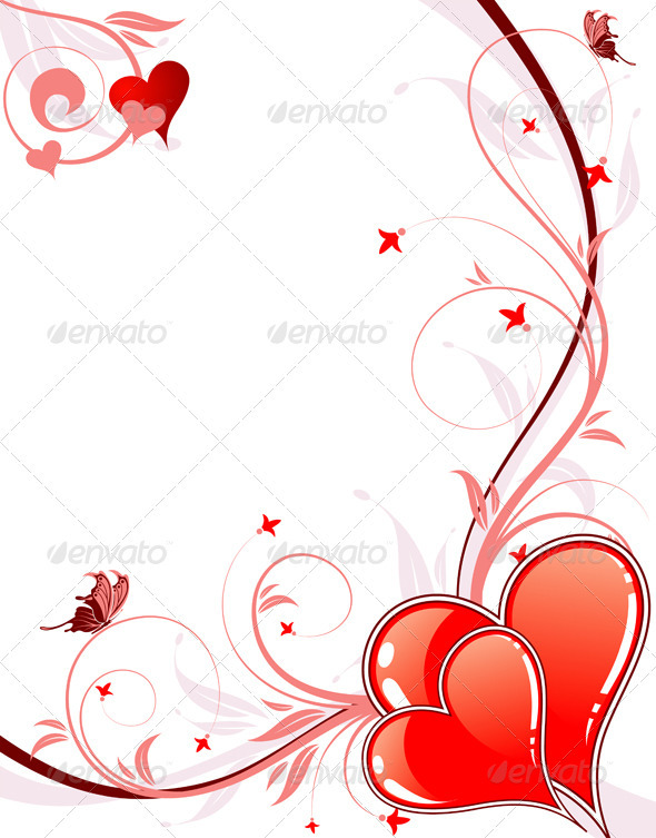 Graphic River Valentines Day background with hearts and florals Vectors -  Conceptual  Seasons/Holidays  Valentines 815722