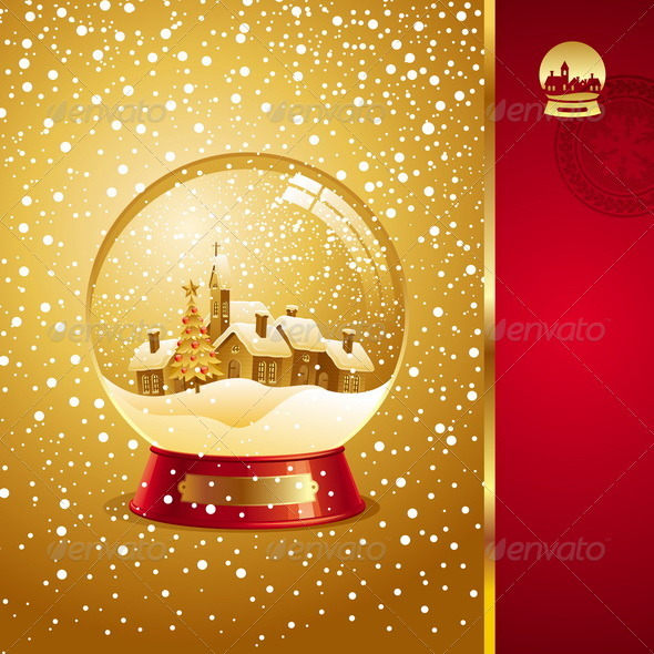 Graphic River Christmas Design With Snow globe Vectors -  Conceptual  Seasons/Holidays  Christmas 818416