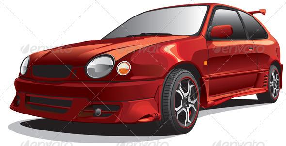 Graphic River Drag Car No1 Vectors -  Objects 818905